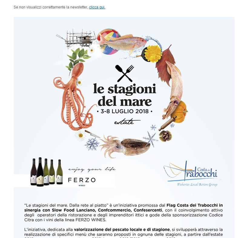 Newsletter – Le Stagioni del Mare